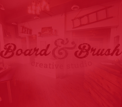 Board and Brush Creative Studio is next to CTCU