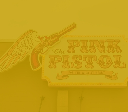 The Pink Pistol is next to CTCU